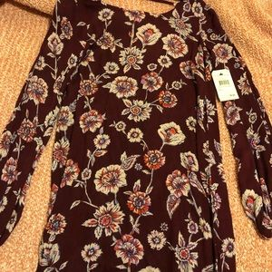 Billabong Floral Burgundy Dress